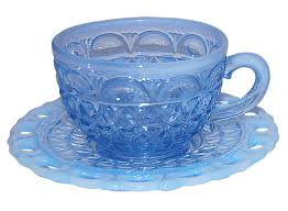 depression glass blue