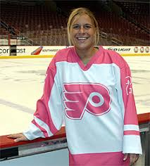 girls in hockey jerseys