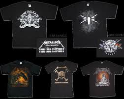 metallica tour shirts