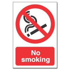 no smoking sign board
