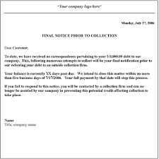 notice letter