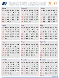 kalendar 2007
