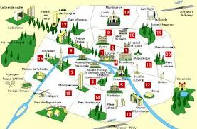 map of monuments in paris