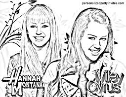 hannah montana pictures to colour in