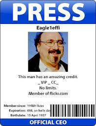 press identity card