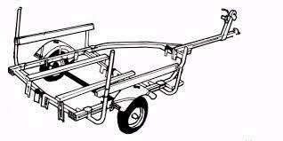 flat bottom boat trailer