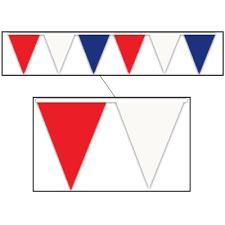 red white and blue banners