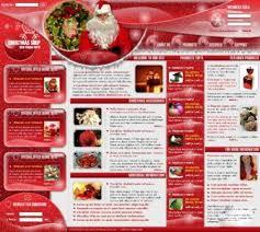 christmas web template