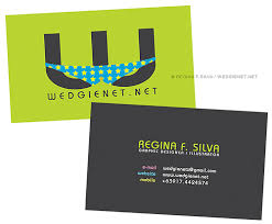 business card graphic designer