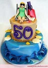 beach themed birthday cakes