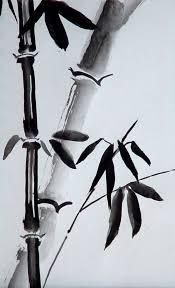 chinese brush painting bamboo