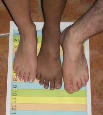 foot sizes