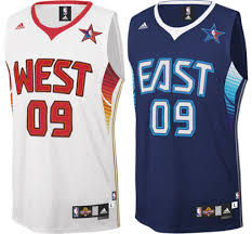 2009 nba all star uniforms