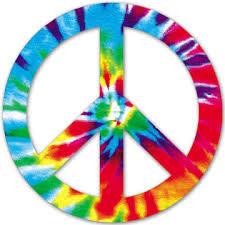 peace sign tye dye