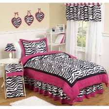 pink and black zebra print bedding