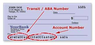 savings account number