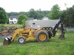 back hoe tractor
