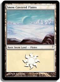 snow covered land