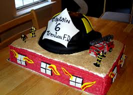 firefighter grooms cakes