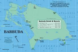 map of barbuda