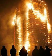 burning building pictures