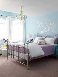 blue and purple bedroom