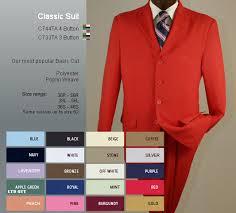 red suits men