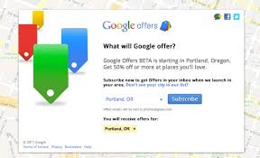 sign-up for Google Offers