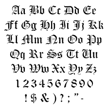 old english lettering alphabet