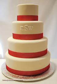 monogram wedding cakes