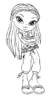 bratz coloring picture