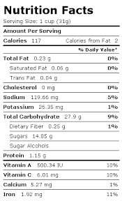 pop nutrition facts