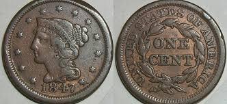 1847 penny