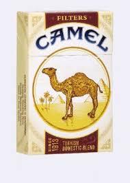 camel cigarette box