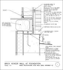 brick veneer detail