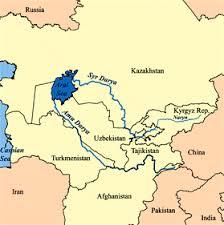 amu darya river map