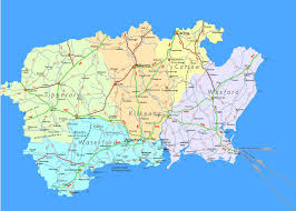 map of south ireland