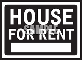 house for rent signs