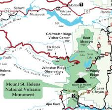 mount st helens maps