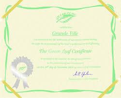 hotel certificate