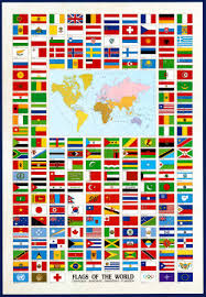 flags all around the world