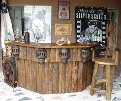 outdoor wooden bars