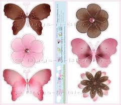 pink and brown wall decorations