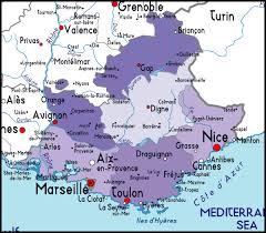 provence map france
