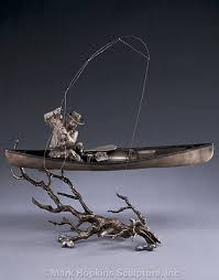 fishing sculptures