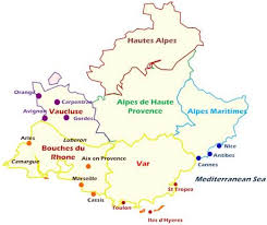 maps of provence france