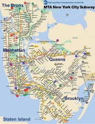 detailed map of manhattan
