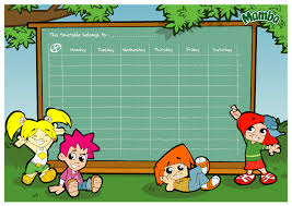 learning timetable