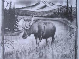 drawings of moose