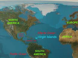 caribbean on world map